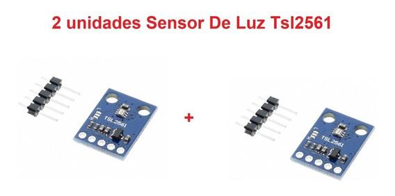 2 Unidades Sensor De Luz Tsl2561 Luxímetro Arduino