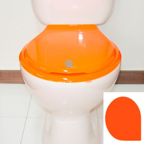 Imagen 1 de 4 de Asiento Universal Para Sanitario Redondo, Naranja