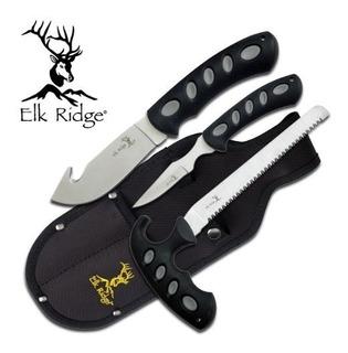 Cuchillo De Caza 3 Piezas Elk Ridge Er-252