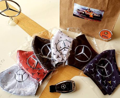 Tres (3) Tapabocas Mercedes-benz Reutilizables 3 Capas