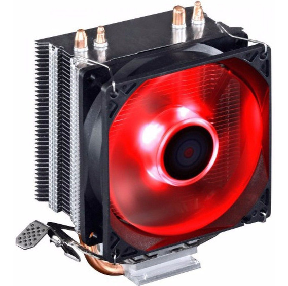 Cooler Universal Cpu Led Red Intel Amd Fan 1150 Am3 Fm2 775