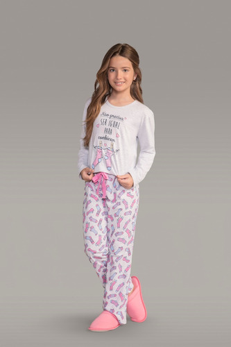 Pijama Manga Longa Infantil Ref - 111758