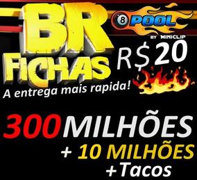 8 Ball Pool Fichas 310 Milhões E Tacos Entrega Rápida