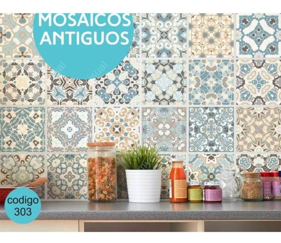 Vinilo Decorativo Para Azulejos Venecitas 20x20 X Unidad