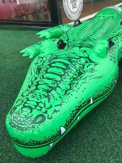 Boia Bote Jacaré Gigante Aligator Possui 4 Alças E 2.03 Mts