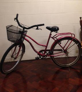 Bicicleta De Paseo Rodado 26 Con Canasto Exelente Estado