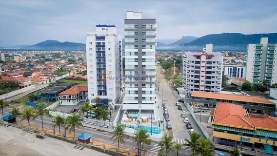 Apartamento Na Praia Mongaguá Pé Na Areia Só R$ 285 Mil. - V5734