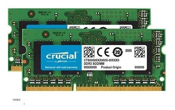Memoria Crucial De 204 Pins 4 Gb Ddr3 1600 Mt/s (pc3-12800)