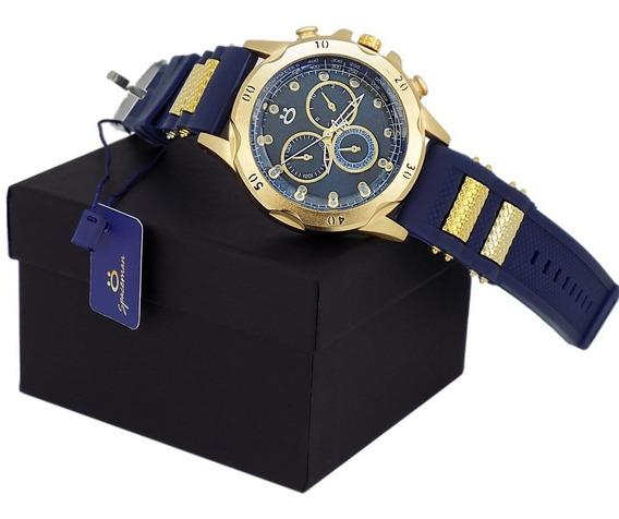 Relógio Masculino Dourado 12 X Sem Juros Frete Grátis!