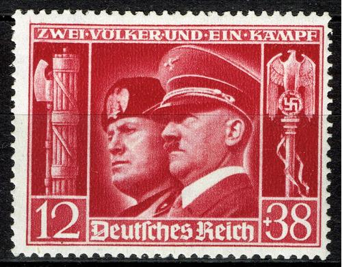 Imagen 1 de 1 de 17 Alemania Nazi Tercer Reich Mussolini - Hitler 1941 Timbre