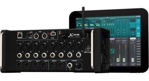 Mesa De Som Digital Behringer X-air Xr16 C/ Gravação Usb