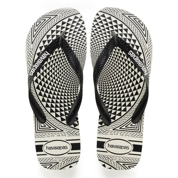 Sandalia Chinelo Top Illusion - Havaianas - Branco/preto