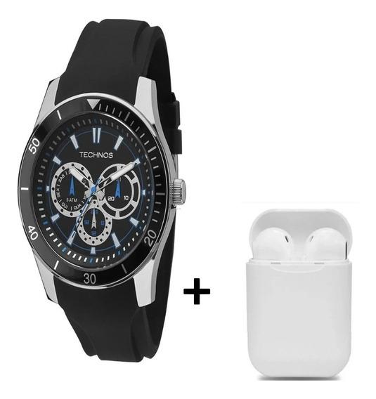 Relógio Technos Masculino Sport Silicone 6p29aiq8p C/brinde