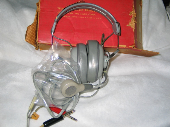 Headset Carbon Boom Telex Mod Mrb-46a Antigo Raro