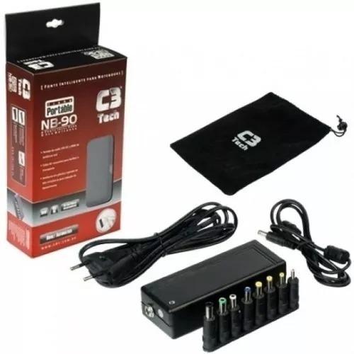 Fonte Universal Para Notebook 90w C3tech Nb-90