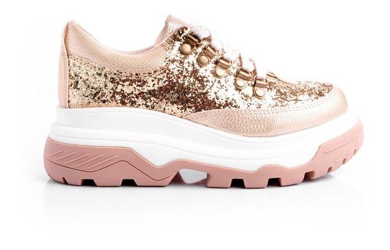 Zapatillas Sneakers Mujer Botas Glitter Platafomas Urbanas