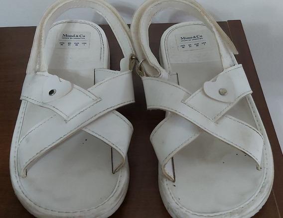 Sandalias Cruzada Marca Mimo. Nena Talle 32 Arg. Blancas