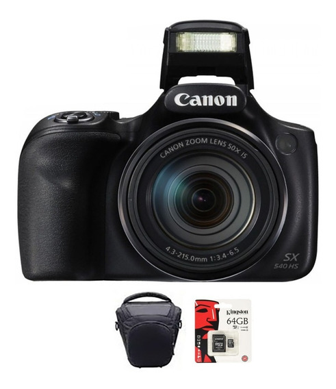 Camara Canon Sx540 20mp Full Hd 50x Wifi Memo 64gb + Bolso
