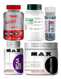 Kit Completo Metildrol Sekka Abdomen Dilatex Bcaa Creatina