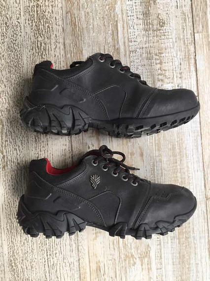 Zapatos Colegio Montaña Trabajo Gonew Talle39 Negros Sin Uso
