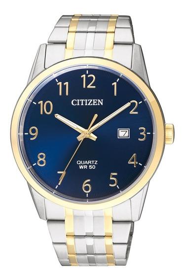 Reloj Hombre Marca Citizen Bi5004-51l Cuarzo Acero En 2 Tonos Diseño Casual
