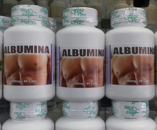 Albumina - 500mg/60 Cápsulas Kit 3 Frascos