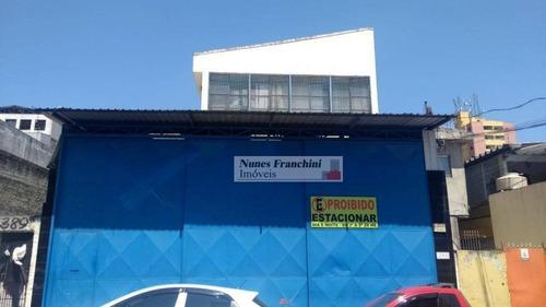Parque Peruche Zn/sp - Galpão 800m², Escritórios, Banheiro - Ga0033