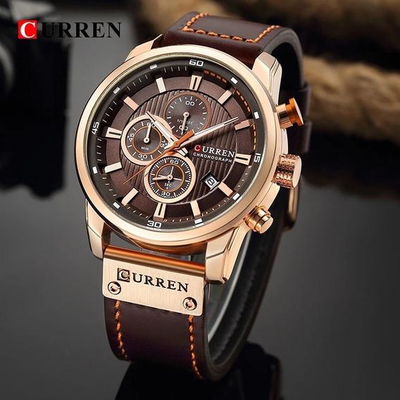 Relógio Masculino Curren 100% Original Importado Luxo+caixa