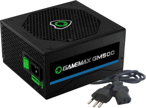 Fonte Gamemax Gm500 500w 80 Plus Bronze Oem Sem Caixa
