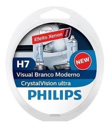 Kit Lampada Super Branca H7+ H7+ H11 Philips Cristal Vision