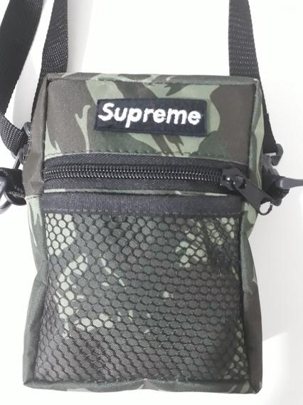 Shoulder Bag Camuflada, Bolsinha Masculina, Bolsa Supreme