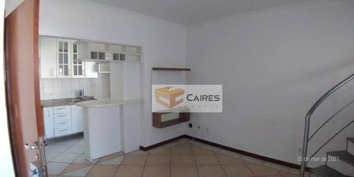Cobertura Com 1 Dormitório, 52 M² - Venda Por R$ 319.900,00 Ou Aluguel Por R$ 1.150,00/mês - Botafogo - Campinas/sp - Co0091