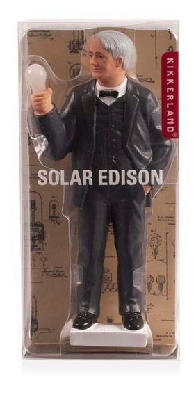 Figura Histórica Muñeco Científico Edison Solar Kikkerland