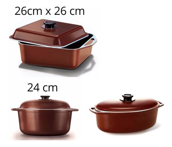 Cucina Donna Olla Cacerola Bateria De Cocina Set X 3 Mendoza