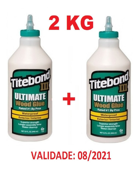 Cola P/ Madeira Titebond Ultimate 3 Kit C/ 2kg