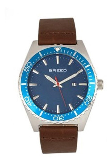 Reloj Breed Ranger Brd8005 - Azul/plata/marrón Oscuro