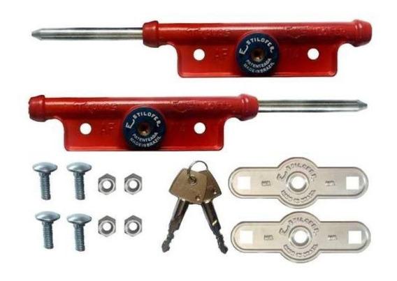 Trava Lateral Para Porta De Aço Fechadura - Em Aluminio