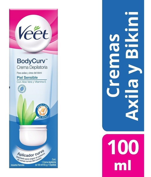 Veet Body Curv Crema Depilatoria 100ml Axilas Y Area Bikini