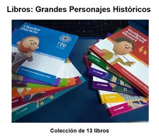 Colección De Biografías Grandes Personajes: Libro + Cd