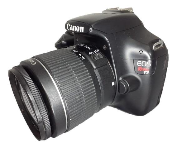 Camera Canon T3 Com Lente 18-55 Usada Perfeita