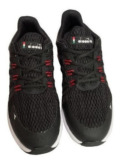 Tenis Masculino Diadora Black-red Level Co123