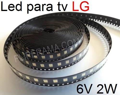 Led 3535 Smd 2w 6v Tv Lg 42lb5800 _10 Unidades