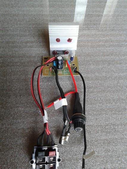Kit Placa Amplificador Estéreo 44w Tda1552 Montado