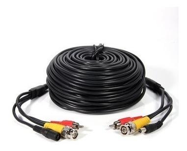 Cable 20mts Bnc+ Rca + Dc Alimentacion Energia Ideal Cctv