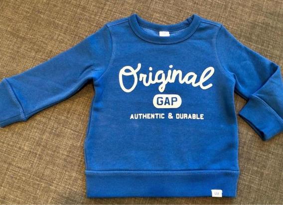 Blusão Moletom Gap Menino Infantil Bebê Tam 2