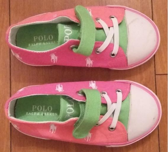 Zapatillas Polo Ralph Lauren - Talle 7 Usa De Niñas - Nuevas