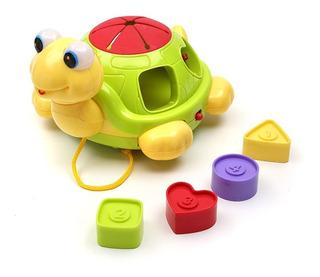 Tortuga De Encastre Con Diversas Piezas Y Sonido - Baby Innovation