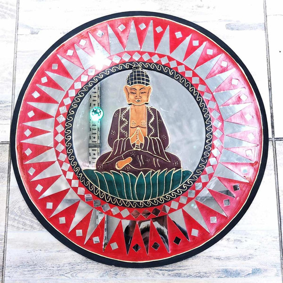 Espejo Con Buda De 60 Cm Importado India Artesanía Hindu