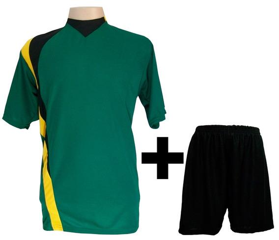Uniforme 14 Camisas Psg Ver/pto/am + 14 Calções Madrid Pto