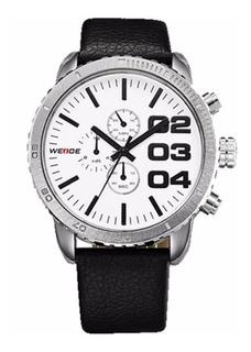 Reloj Weide Wh3310 Cuero Grande Elegante Y Moderno Oferta !!